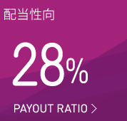配当性向35% PAYOUT RATIO